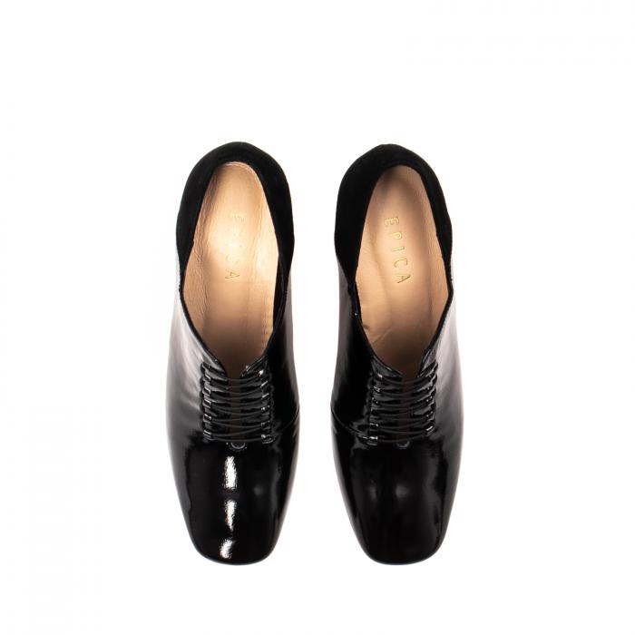 Pantofi eleganti dama, piele naturala lacuita, F82546A N 5
