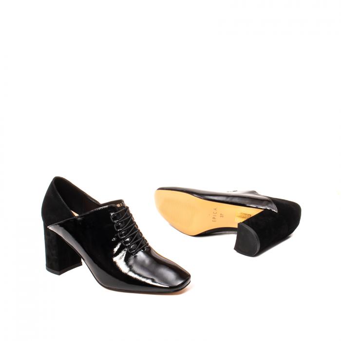 Pantofi eleganti dama, piele naturala lacuita, F82546A N 3