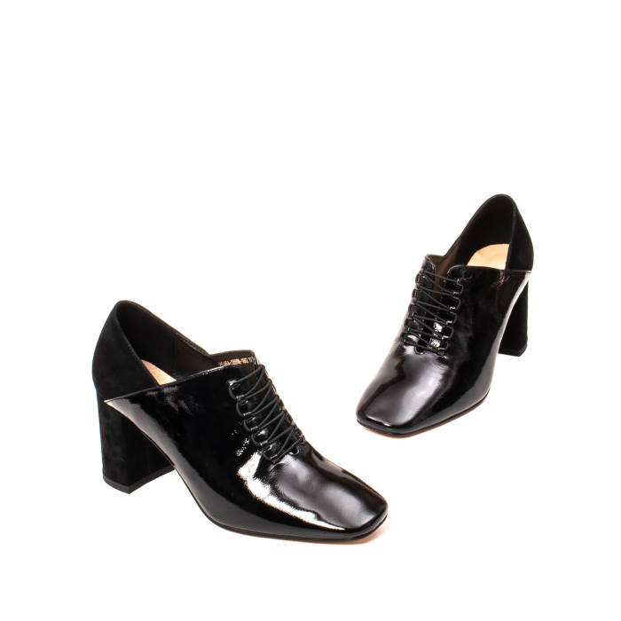 Pantofi eleganti dama, piele naturala lacuita, F82546A N 1