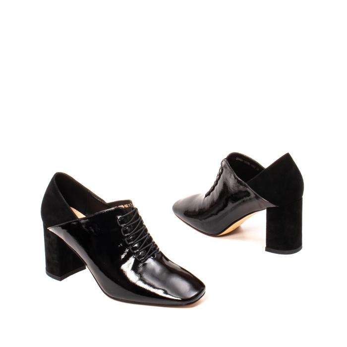 Pantofi eleganti dama, piele naturala lacuita, F82546A N 2