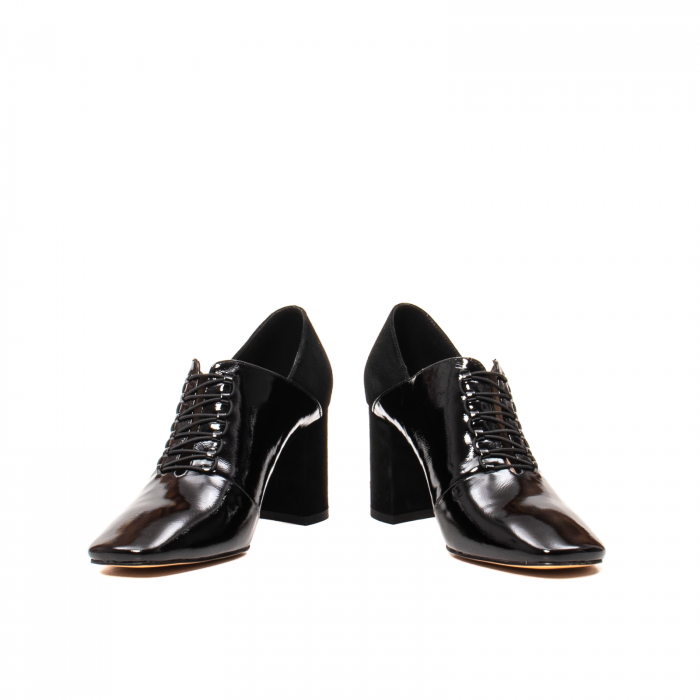 Pantofi eleganti dama, piele naturala lacuita, F82546A N 4