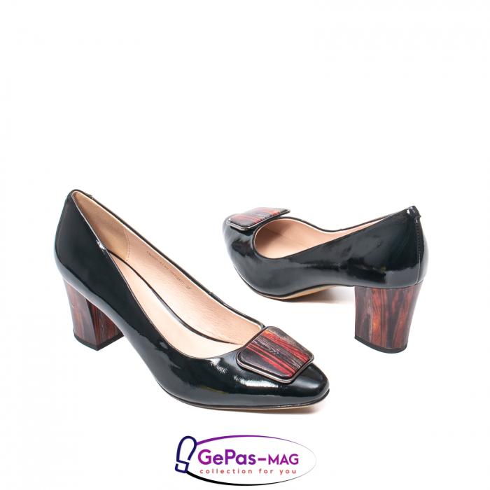 Pantofi eleganti dama, piele naturala lacuita, X140 2