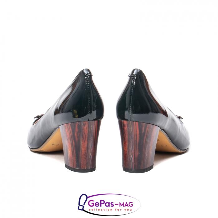 Pantofi eleganti dama, piele naturala lacuita, X140 6