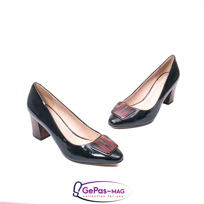 Pantofi eleganti dama, piele naturala lacuita, X140 1