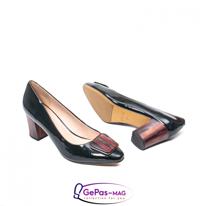 Pantofi eleganti dama, piele naturala lacuita, X140 3