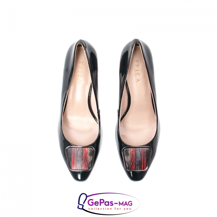 Pantofi eleganti dama, piele naturala lacuita, X140 5