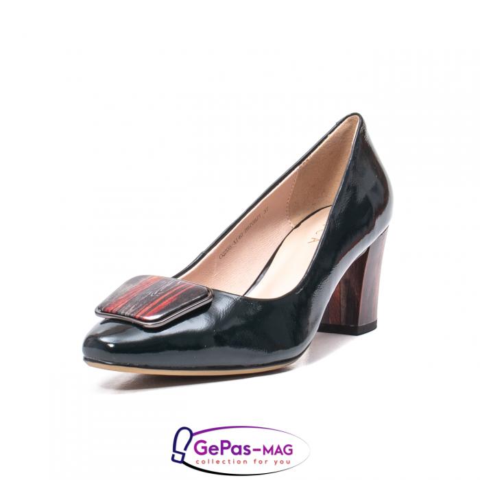 Pantofi eleganti dama, piele naturala lacuita, X140 0