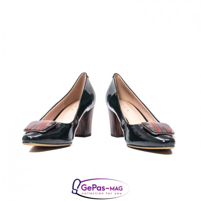 Pantofi eleganti dama, piele naturala lacuita, X140 4