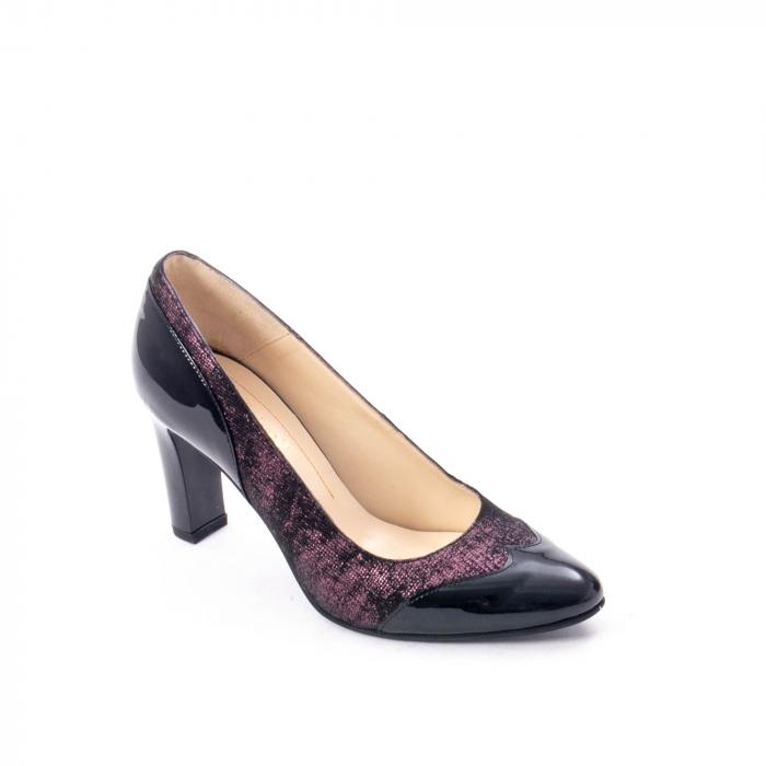 Pantofi eleganti dama, piele naturala, Nike Invest, 265 NL, negru-grena 0