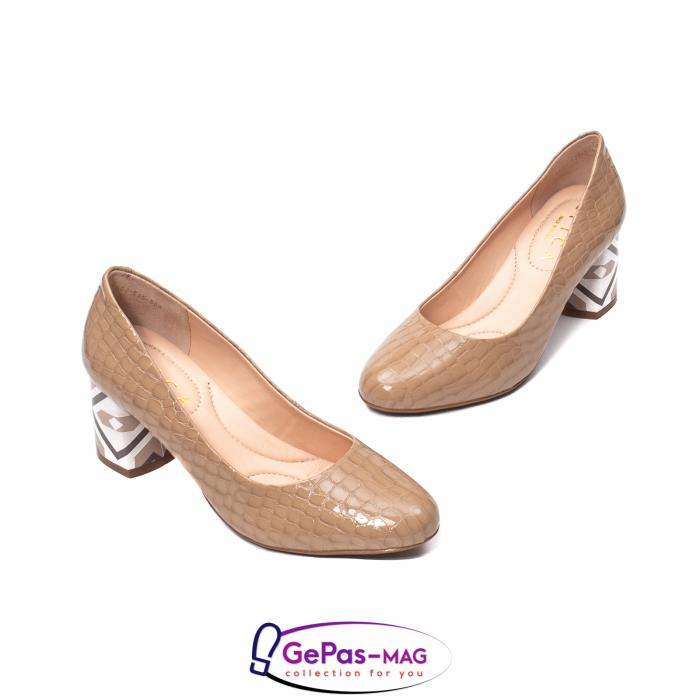 Pantofi eleganti dama, piele naturala, OE535 1