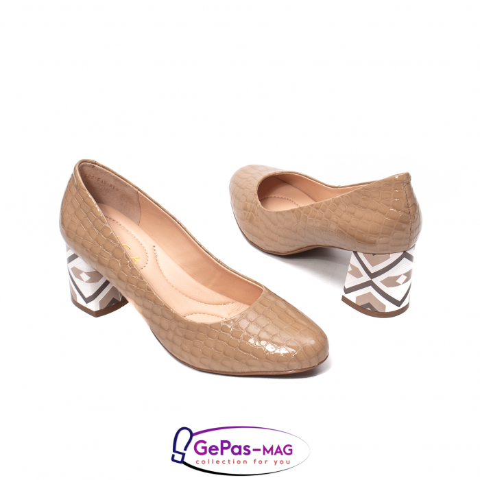 Pantofi eleganti dama, piele naturala, OE535 2