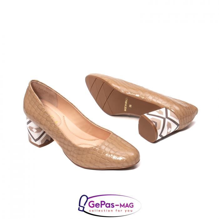 Pantofi eleganti dama, piele naturala, OE535 3