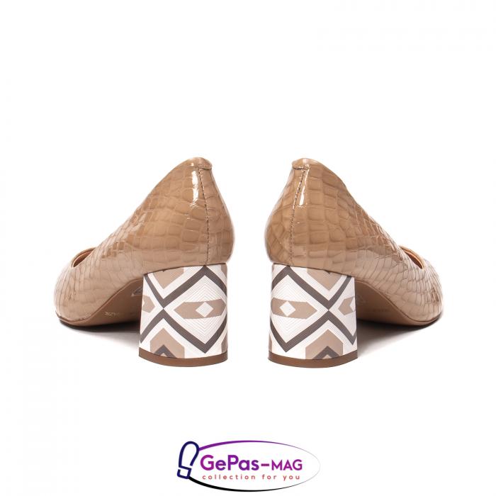 Pantofi eleganti dama, piele naturala, OE535 6