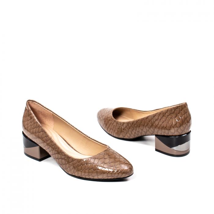 Pantofi eleganti dama, piele naturala, OE9825 2