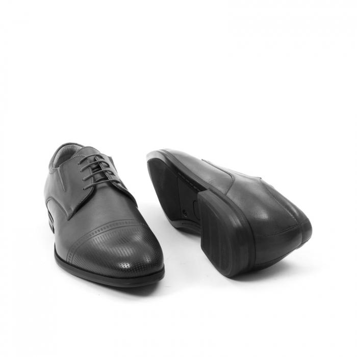 Pantofi eleganti de barbati piele naturala Leofex 522, negru 6