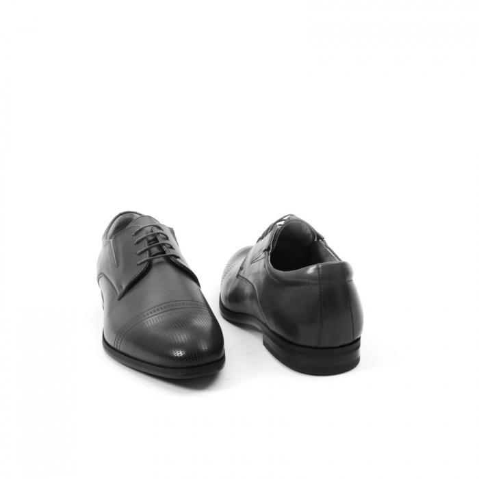 Pantofi eleganti de barbati piele naturala Leofex 522, negru 2