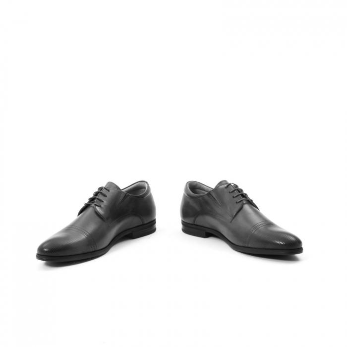 Pantofi eleganti de barbati piele naturala Leofex 522, negru 5