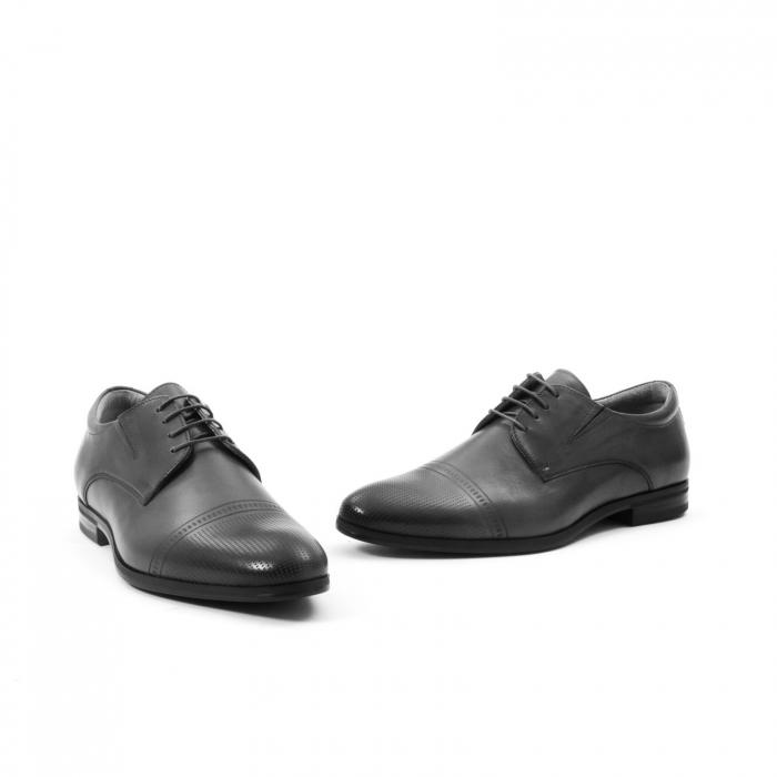 Pantofi eleganti de barbati piele naturala Leofex 522, negru 1
