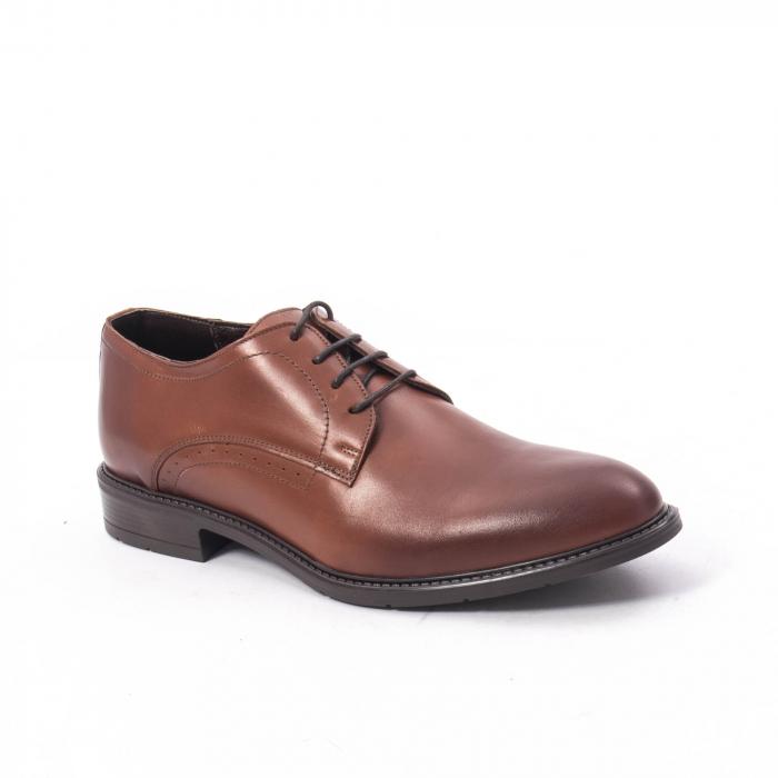 Pantofi eleganti barbati piele naturala, Catali 192545 coniac 0