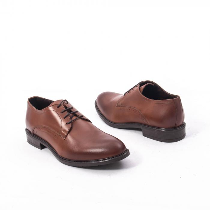 Pantofi eleganti barbati piele naturala, Catali 192545 coniac 2