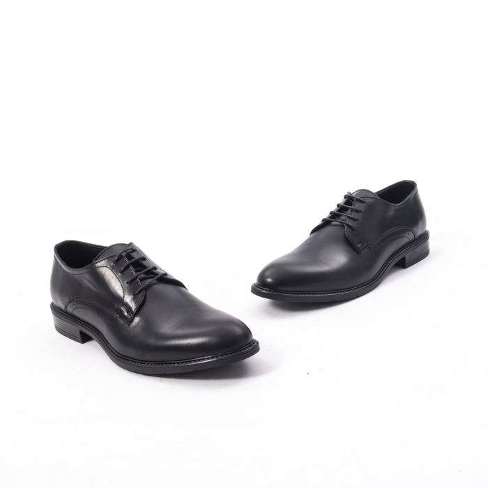 Pantofi eleganti barbati piele naturala, Catali 192545 negru 1