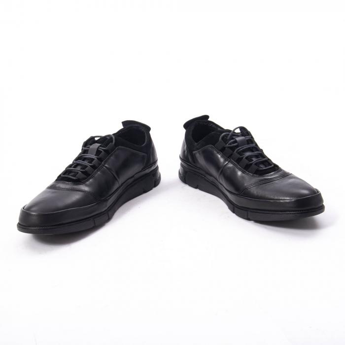 Pantofi casual  barbat din piele naturala, Catali 192552 negru 4