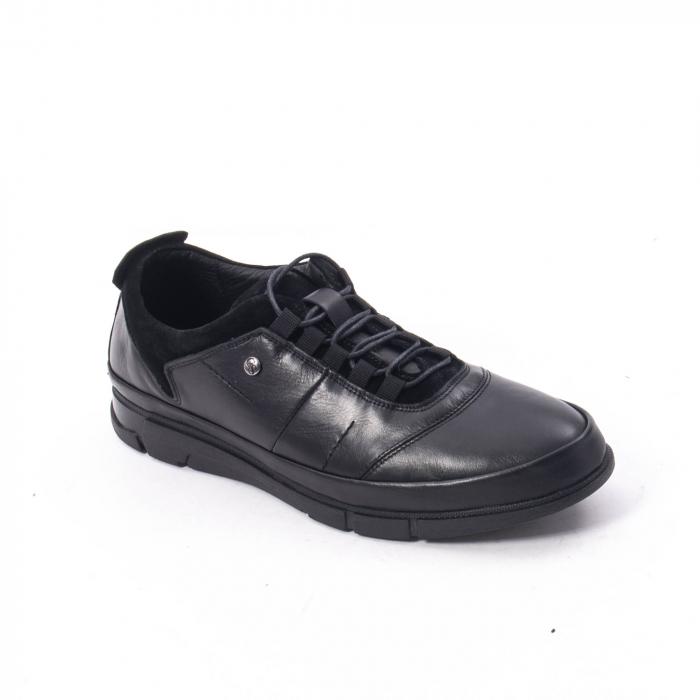 Pantofi casual  barbat din piele naturala, Catali 192552 negru 0