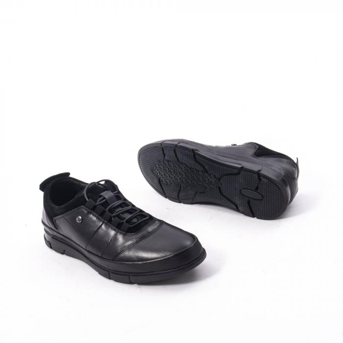 Pantofi casual  barbat din piele naturala, Catali 192552 negru 3