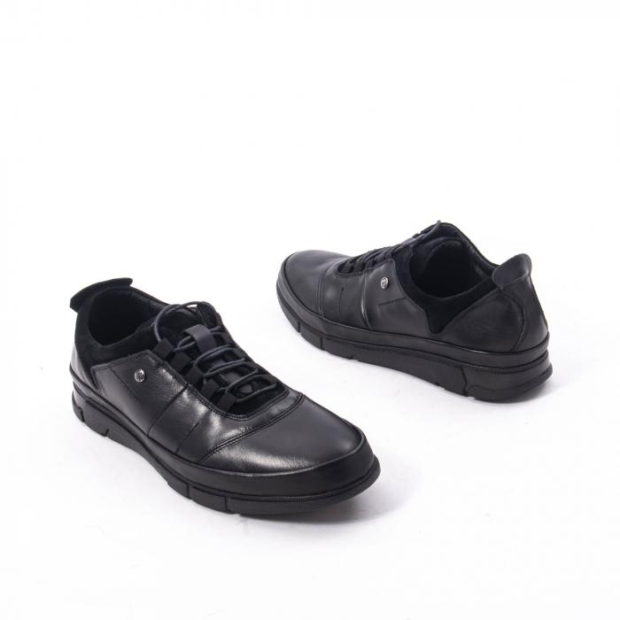 Pantofi casual  barbat din piele naturala, Catali 192552 negru 2