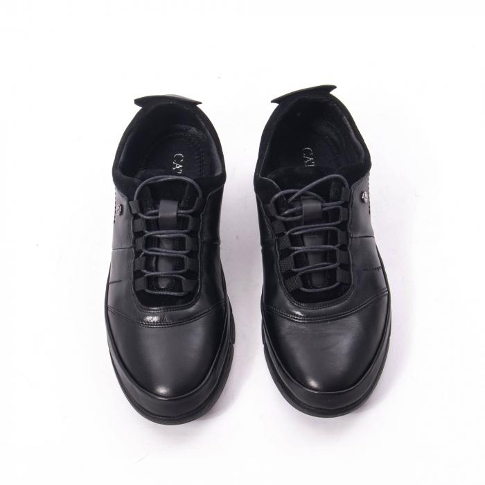 Pantofi casual  barbat din piele naturala, Catali 192552 negru 5