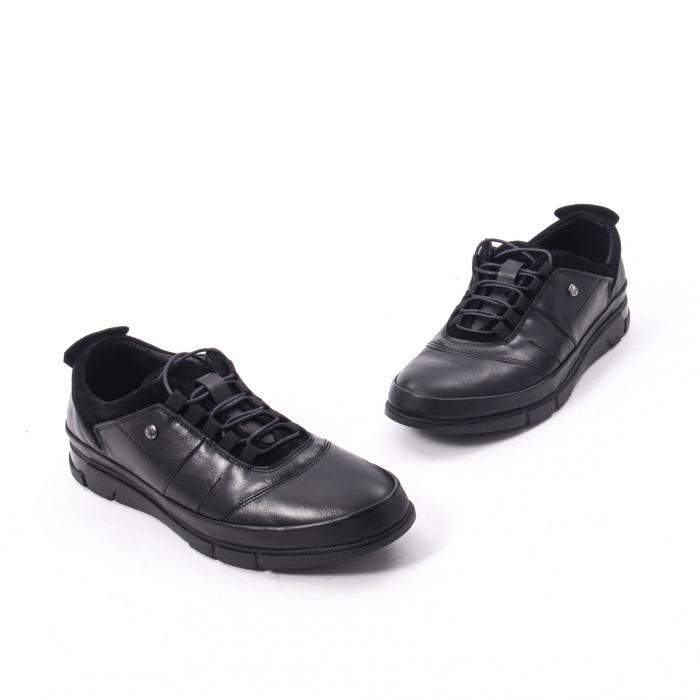 Pantofi casual  barbat din piele naturala, Catali 192552 negru 1
