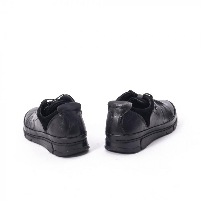 Pantofi casual  barbat din piele naturala, Catali 192552 negru 6