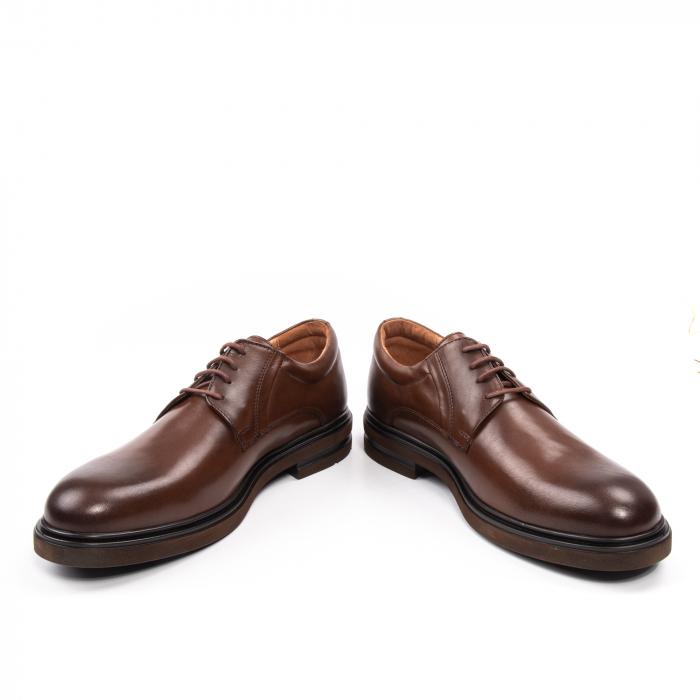 Pantofi eleganti de barbat din piele naturala, Leofex 998 maro 4