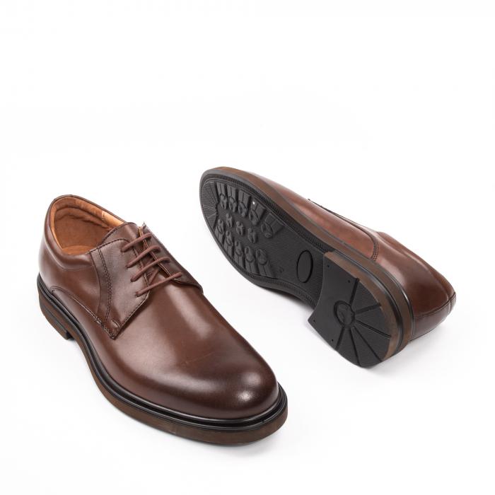 Pantofi eleganti de barbat din piele naturala, Leofex 998 maro 3