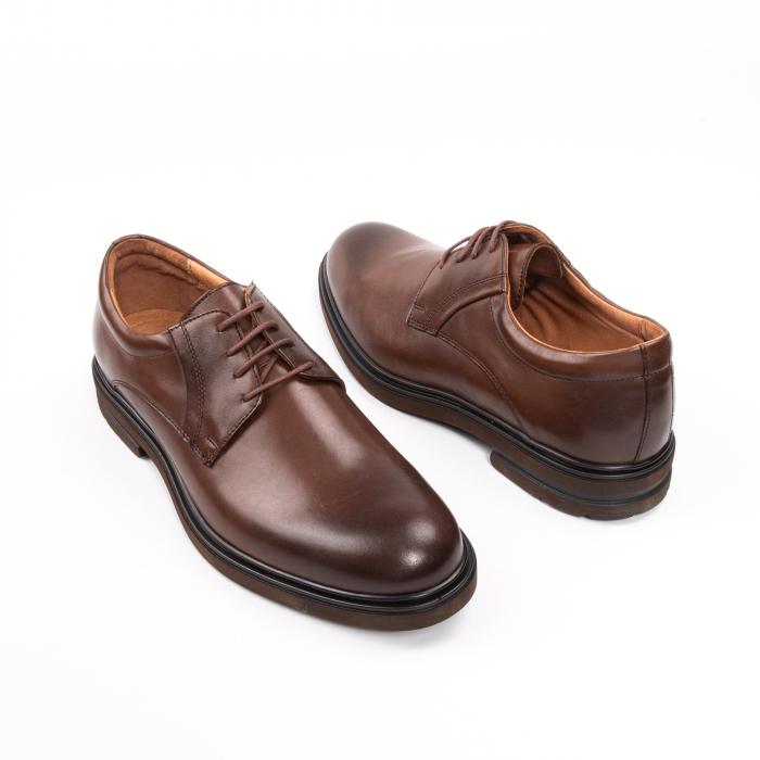 Pantofi eleganti de barbat din piele naturala, Leofex 998 maro 2