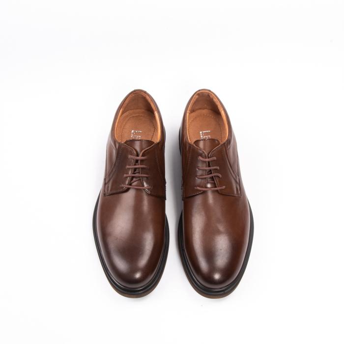 Pantofi eleganti de barbat din piele naturala, Leofex 998 maro 5