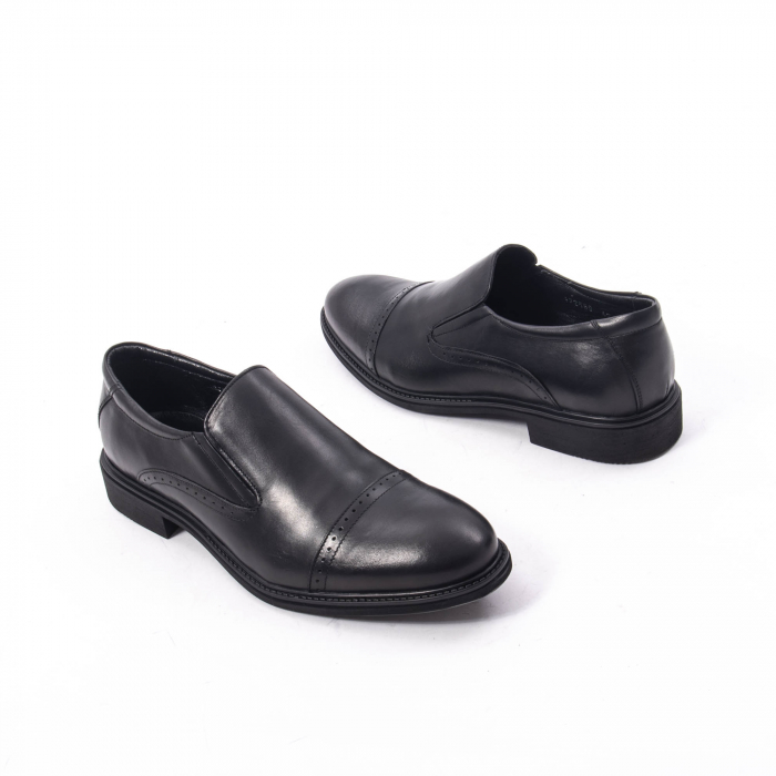 Pantofi eleganti barbati piele naturala Catali 172559, negru 2