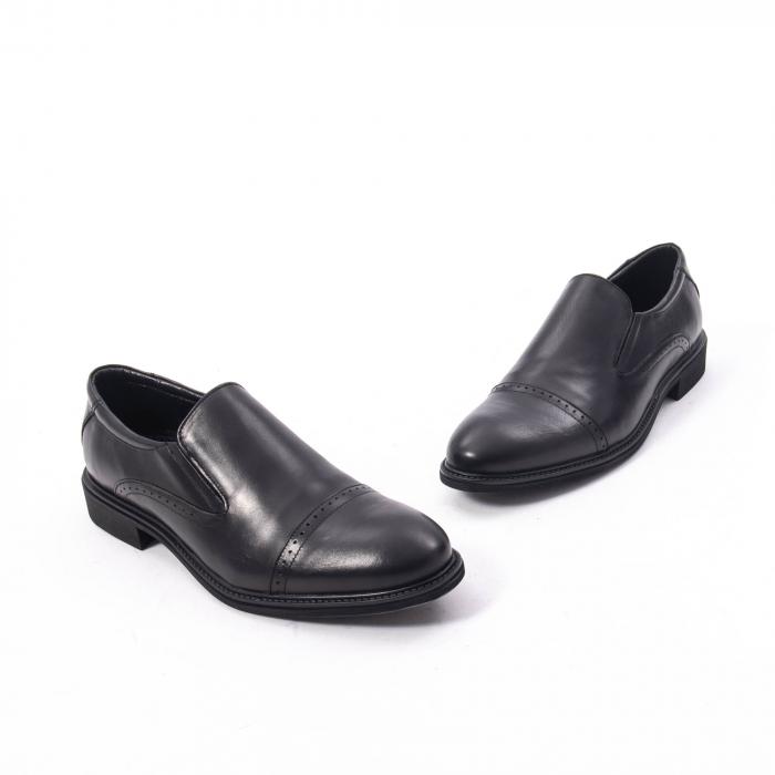 Pantofi eleganti barbati piele naturala Catali 172559, negru 1