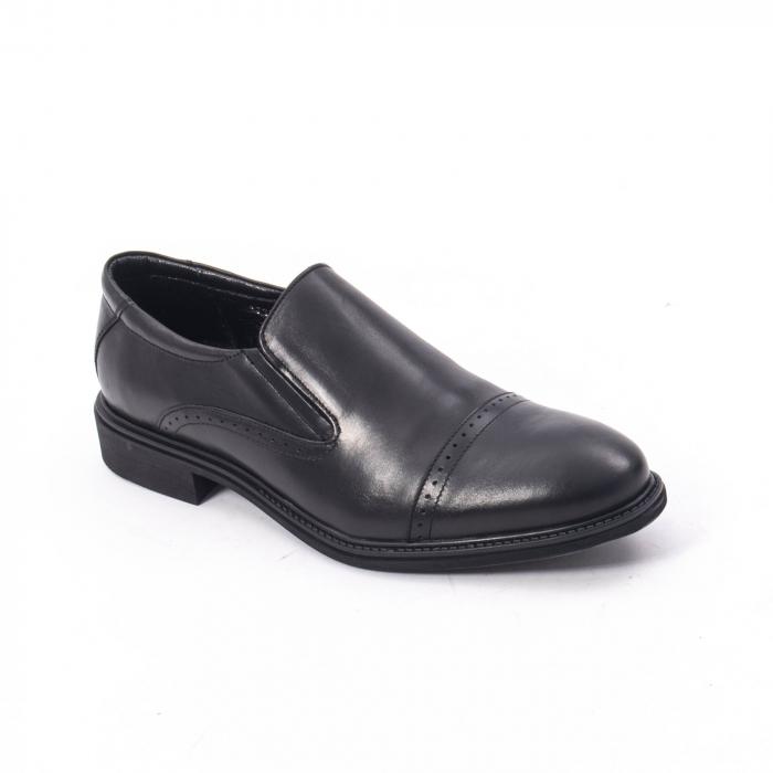 Pantofi eleganti barbati piele naturala Catali 172559, negru 0