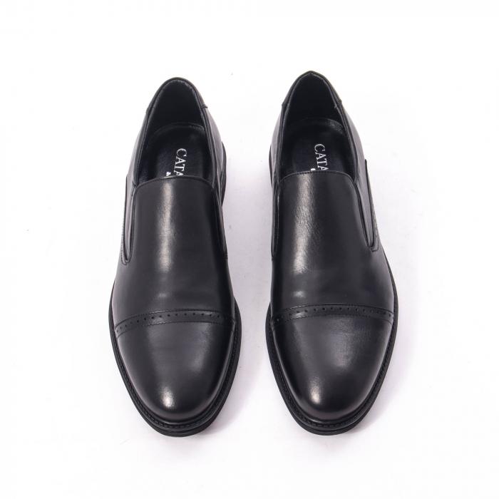 Pantofi eleganti barbati piele naturala Catali 172559, negru 5
