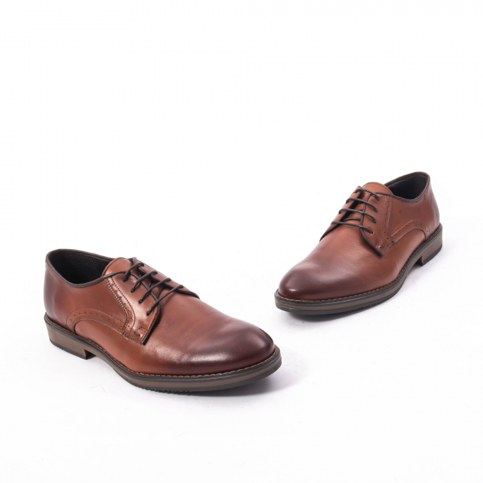 Pantofi eleganti barbat piele naturala Catali 182511, coniac 1