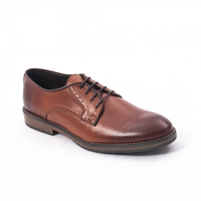 Pantofi eleganti barbat piele naturala Catali 182511, coniac 0