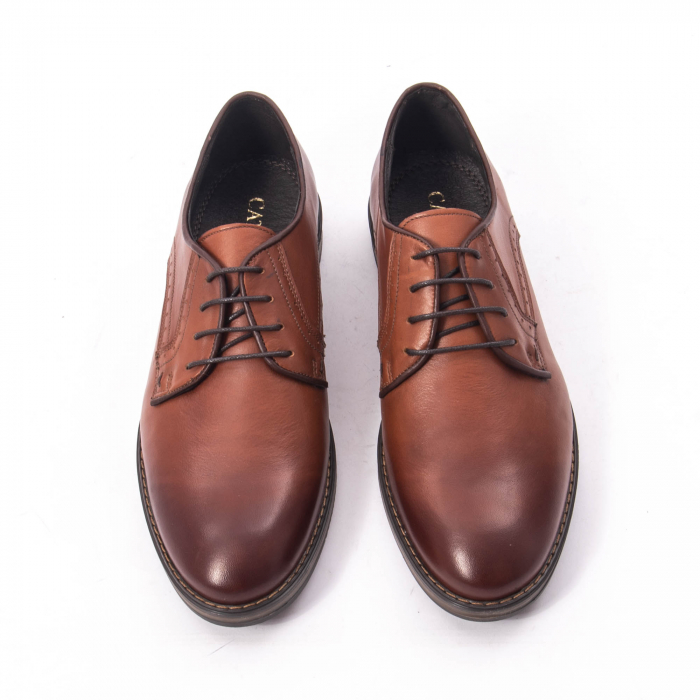 Pantofi eleganti barbat piele naturala Catali 182511, coniac 5