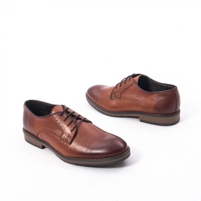 Pantofi eleganti barbat piele naturala Catali 182511, coniac 2