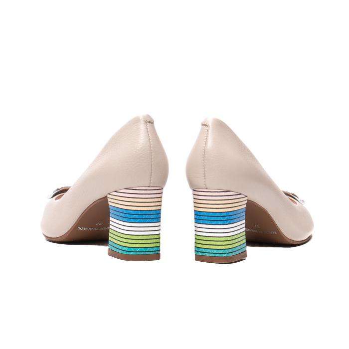 Pantofi eleganti decupati, piele naturala, OE10137 [6]