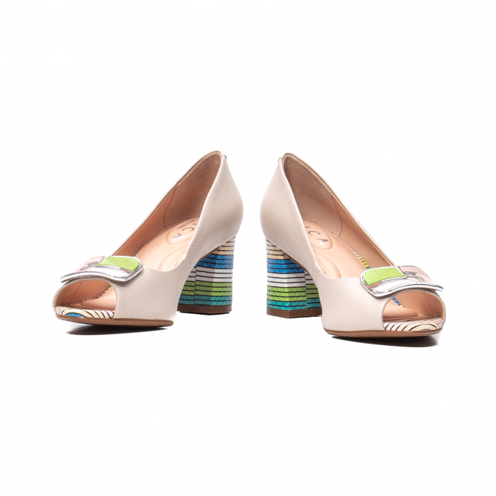 Pantofi eleganti decupati, piele naturala, OE10137 [4]
