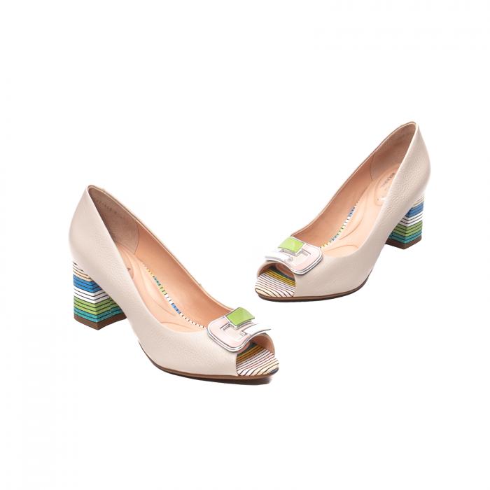 Pantofi eleganti decupati, piele naturala, OE10137 [1]