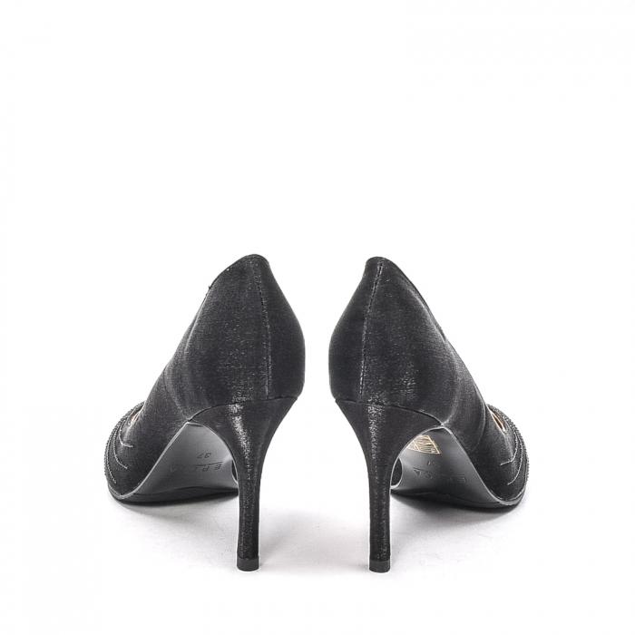 Pantofi dama eleganti Wedding din piele naturala, Ep B01568-3603D-A827, negru 6