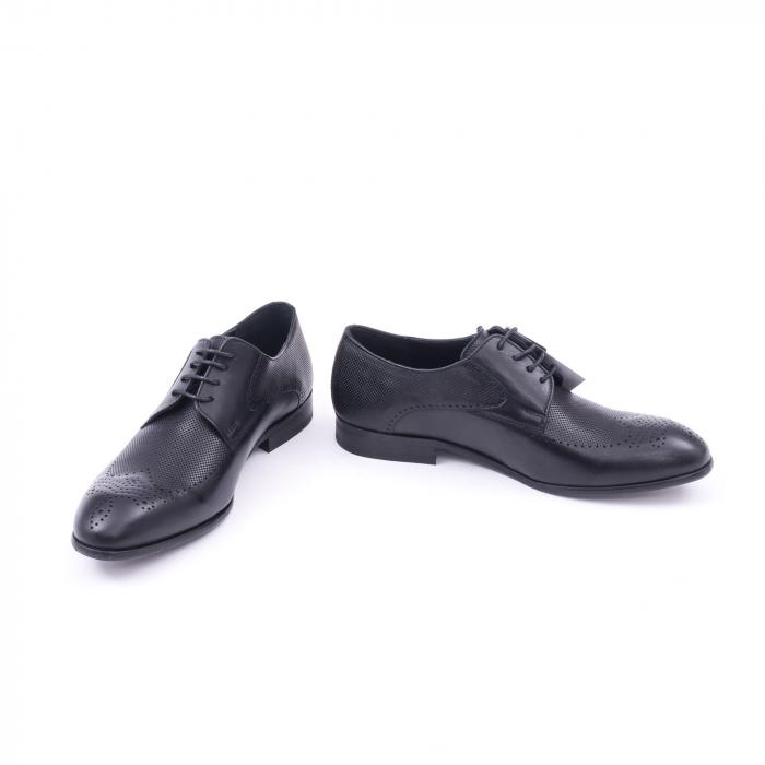 Pantofi barbati eleganti piele naturala Nevalis 116, negru 4