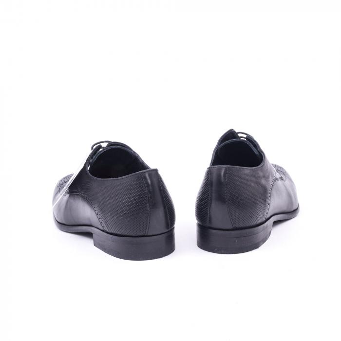 Pantofi barbati eleganti piele naturala Nevalis 116, negru 6